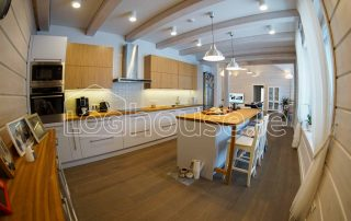 Glulam Log Cabin House Kitchen
