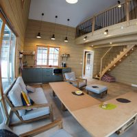 Glulam Log Cabin House Interior