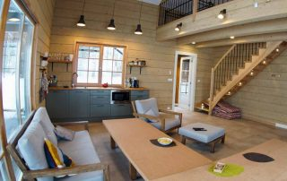 Glulam Log Cabin House Interior