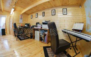 Music Room Log Cabin Inside Left