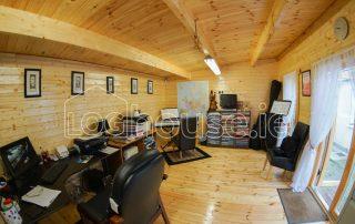 Music Room Log Cabin Inside right