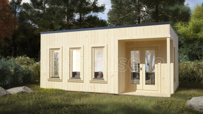 Kildare Contemporary Log Cabin