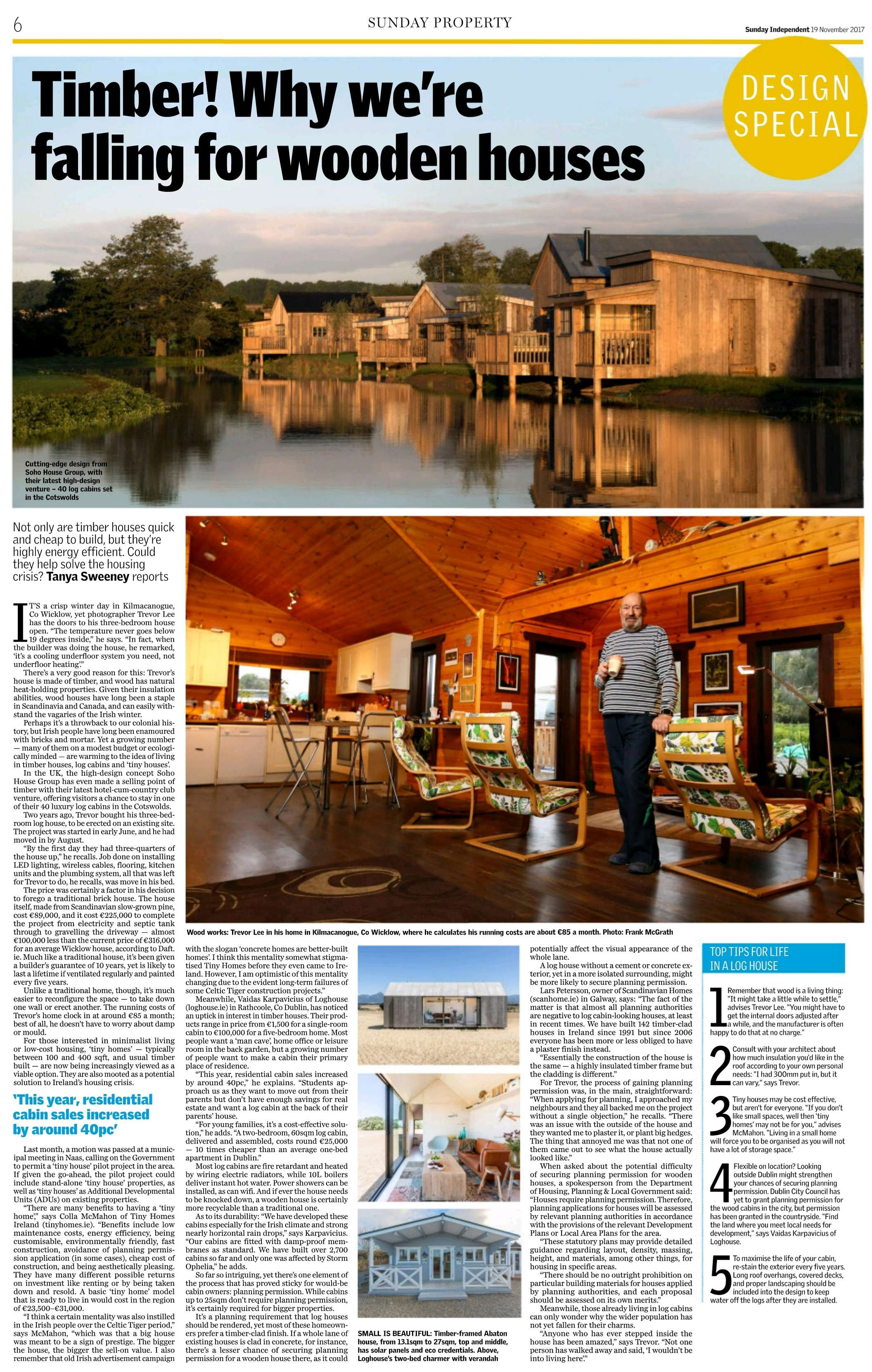 Sunday Independent Loghouse
