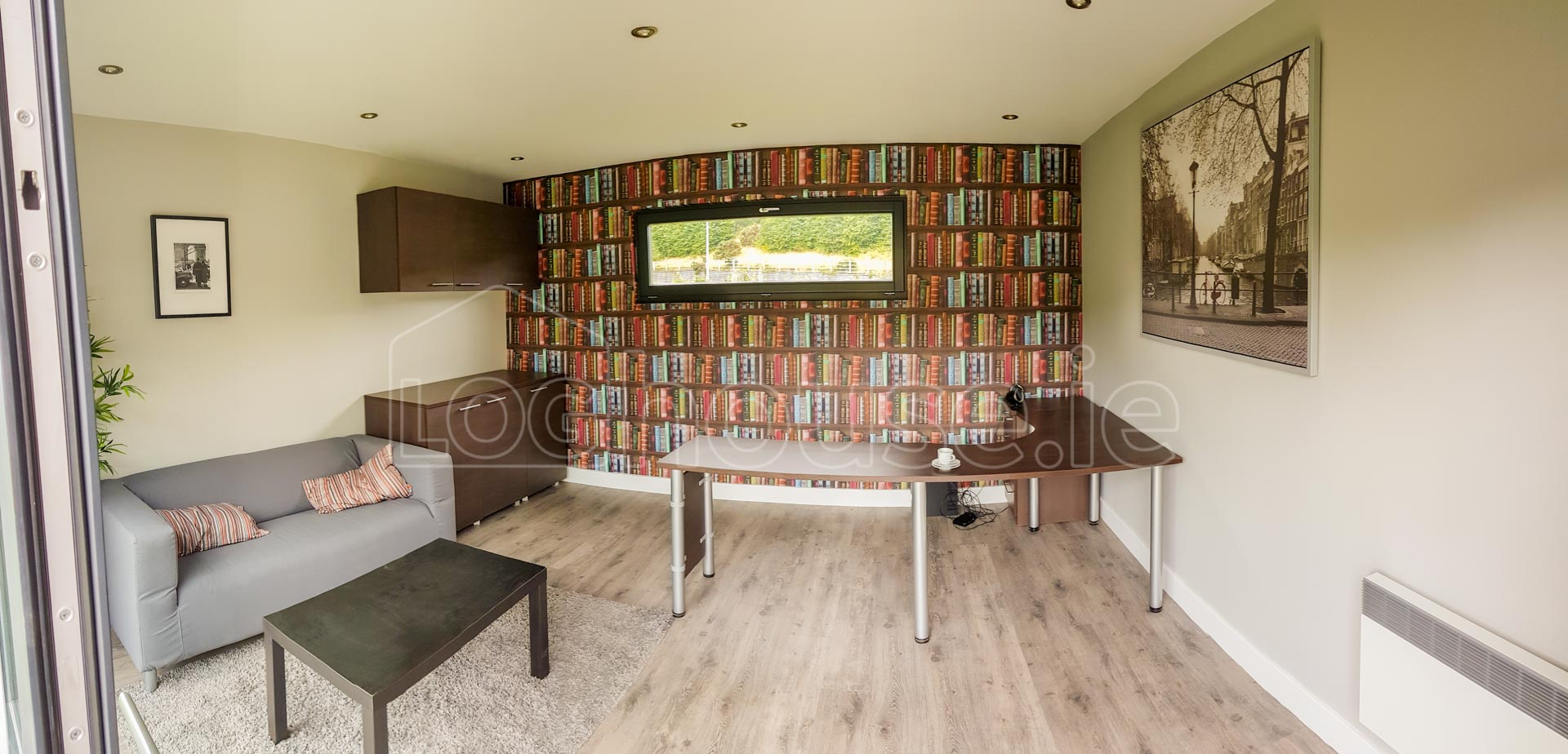 Garden Room ex-display 4.8m x 4.3 (SUPER INSULATED) - Loghouse.ie