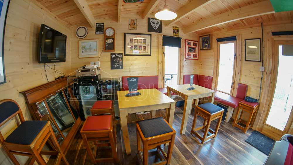 Log Cabin with Man Cave Bar