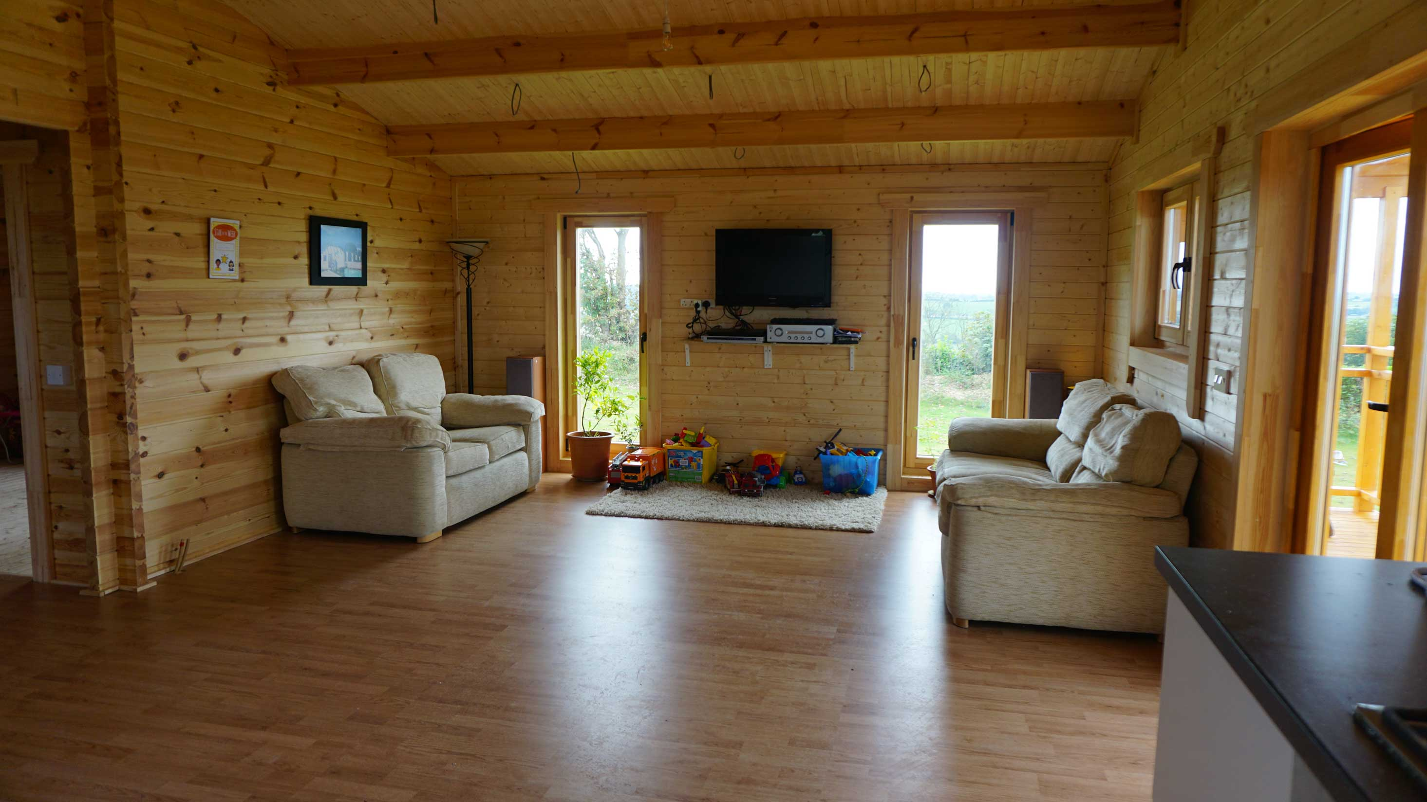 Four Bed Type A Log Cabin