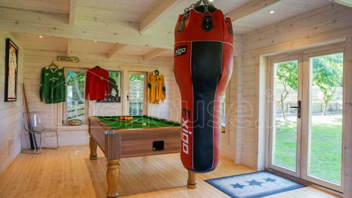 Log Cabin with Man Cave with Gym