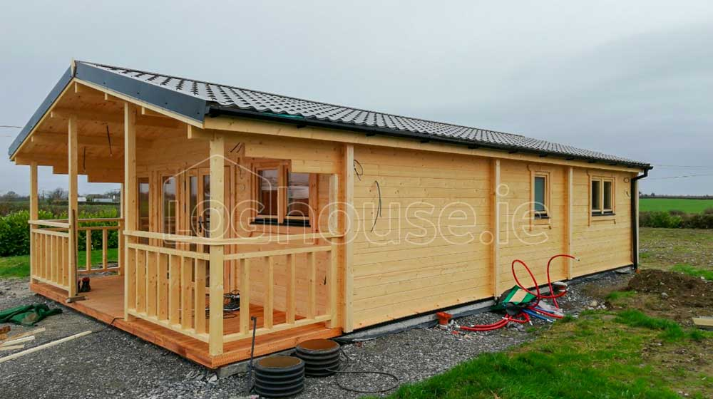 Two Bed Type F Log Cabin 6m X 11m Loghouse Ie