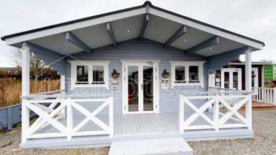2 bedroom type c log cabin exterior