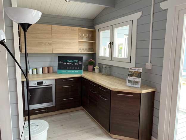 2 bedroom type c log cabin interior 5