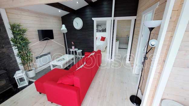 2 bedroom type c log cabin interior 1