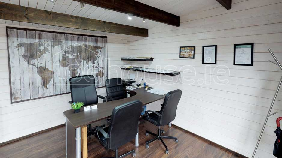 Log Cabin Office Interior Wicklow