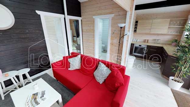 Two Bed Residenital Log Cabin Sitting Room Interior