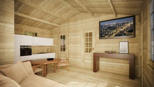 One-Bed-Budget-Cabin-B---Loghouse-Log-Cabin-interior