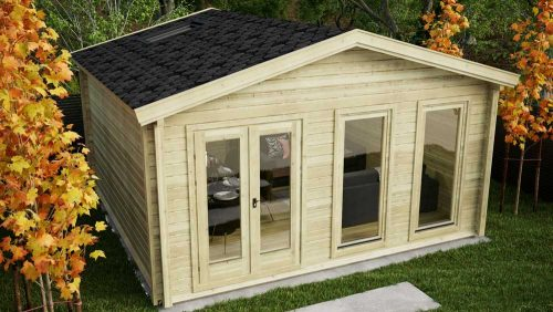 CUSTOM ONE ROOM LOG CABIN 4.73m x 4.5m Garden Log Cabin