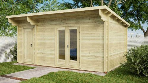 Custom-2-Room-Log-Cabin-Front