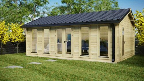 CUSTOM-7-x-4m-ONE-ROOM-LOG-CABIN--Exterior-2