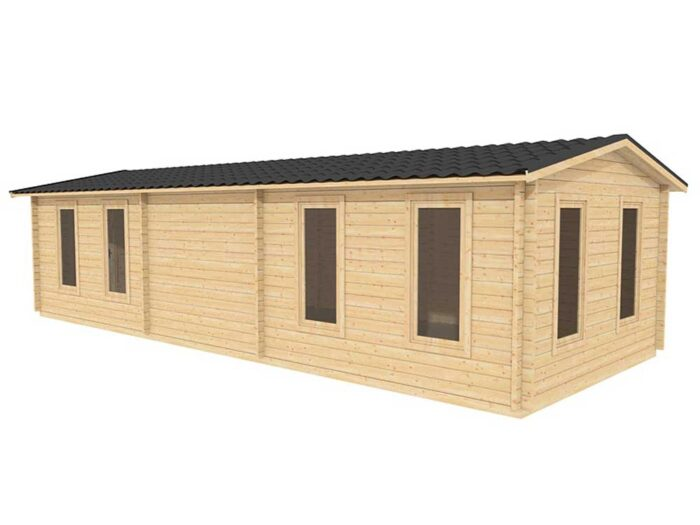 10.0m-x-4.0m-Custom-One-Room-Log-Cabin-Exterior-1
