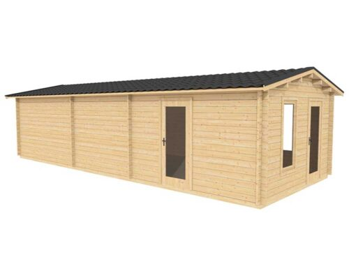 10.0m-x-4.0m-Custom-One-Room-Log-Cabin-Exterior-2