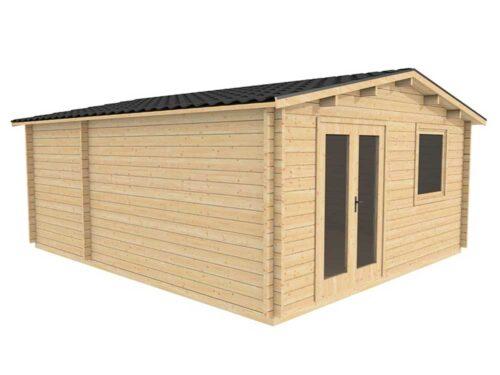 5.0m-x-5.8m-Custom-Log-Cabin---Exterior-2